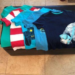Set of 5 toddler boy t-shirts.